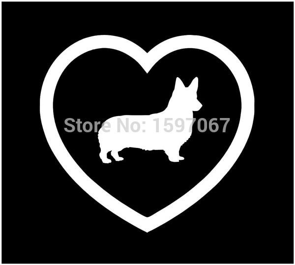 13 cm x 13 cm I Love Welsh Corgis Pembroke corazón Animal perro mascota de vinilo pegatina para ventana de vidrio arañazos impermeable