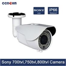 CCDCAM-caméra de vidéosurveillance varifocale   sony ccd 700/ 750/ 800 tvl, caméra IR dextérieur étanche, système de sécurité, caméra cmos 1000tvl