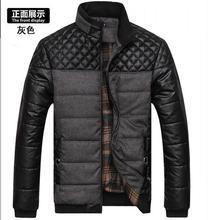 Male pabric coat Men's Clothing brand clothing new winter  jacket warm high-end fashion L-4XL coat stitching basic jackets