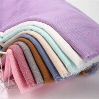 10pcs plain solid cotton scarf ladies long shawls wraps pashmina women muslim hijab bufandas islamic headscarf sjaal headband