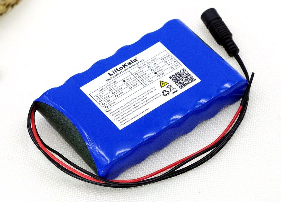 Liitokala 12 v 6,8 Ah 6800 mAh 18650 baterías recargables 12,6 V PCB batería de litio Placa de protección