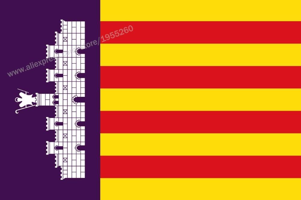 Flag of Majorca Balearic Islands 3 x 5 FT 90 x 150 cm Spain Flags Banners