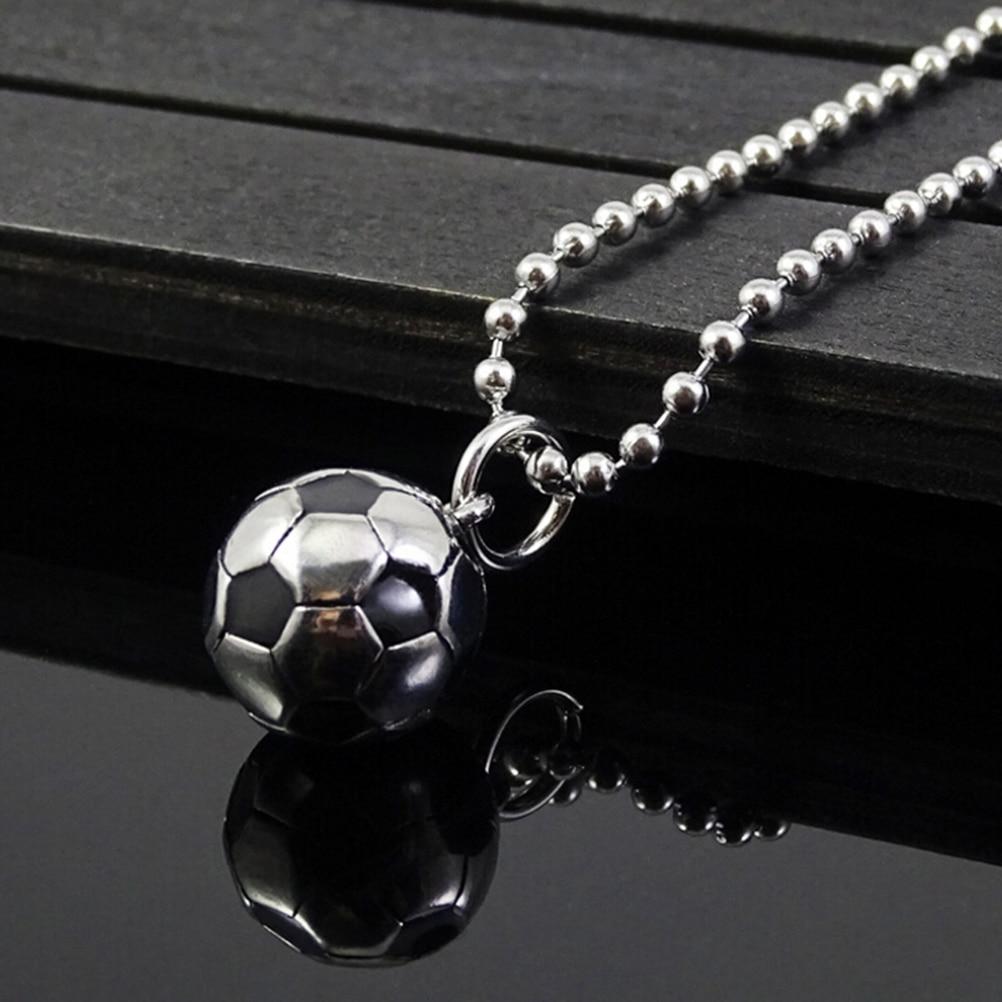 Титановая сталь, модные личи, Новое поступление, Спорт футбольный мяч, подвеска, футбольное ожерелье, металлическая цепь, мужские и женские украшения