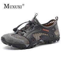 summer breathable mesh shoes mens casual shoes cow suede leather adult walking outdoor shoes man soft comfortable