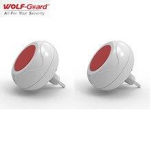 2 x 늑대 가드 무선 실내 사운드 및 플래시 알람 사이렌 홈 경보 시스템 eu 플러그 220 v 433 mhz/315 mhz