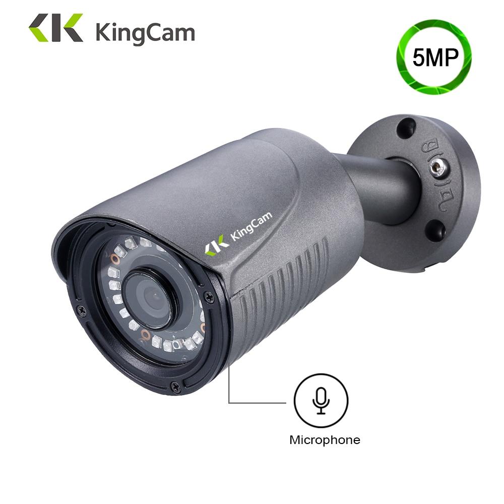 KingCam H.265 5MP IP камера алюминиевая металлическая Водонепроницаемая Наружная цилиндрическая POE IP камера безопасности CCTV ONVIF камера IP C