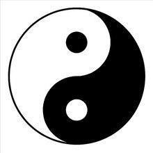Yin Yang-autocollant mural en vinyle   Symbole Yin Yang, autocollant amovible pour salle dart, autocollant mural en vinyle pour décoration de la maison du salon