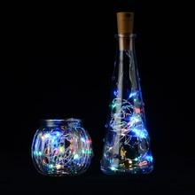 Wine Colorful LED String Lights Cork Shaped Bottle Stopper Light Glass 2M 20LED  For Bar Xmas Party Wedding Home Decoration