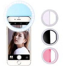 Selfie pierścień lampa błyskowa Led wypełnić światło lampa fotografia wideo reflektor dla iphone X 8 7 Samsung S9 S8 Plus Xiaomi Huawei telefon