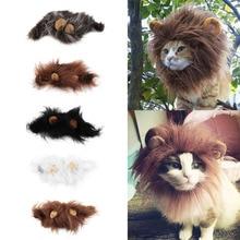 2021 Hot Sale Pet Cat Dog Dress Up Costume Wig Emulation Lion Hair Mane Ears Head Cap Autumn Winter