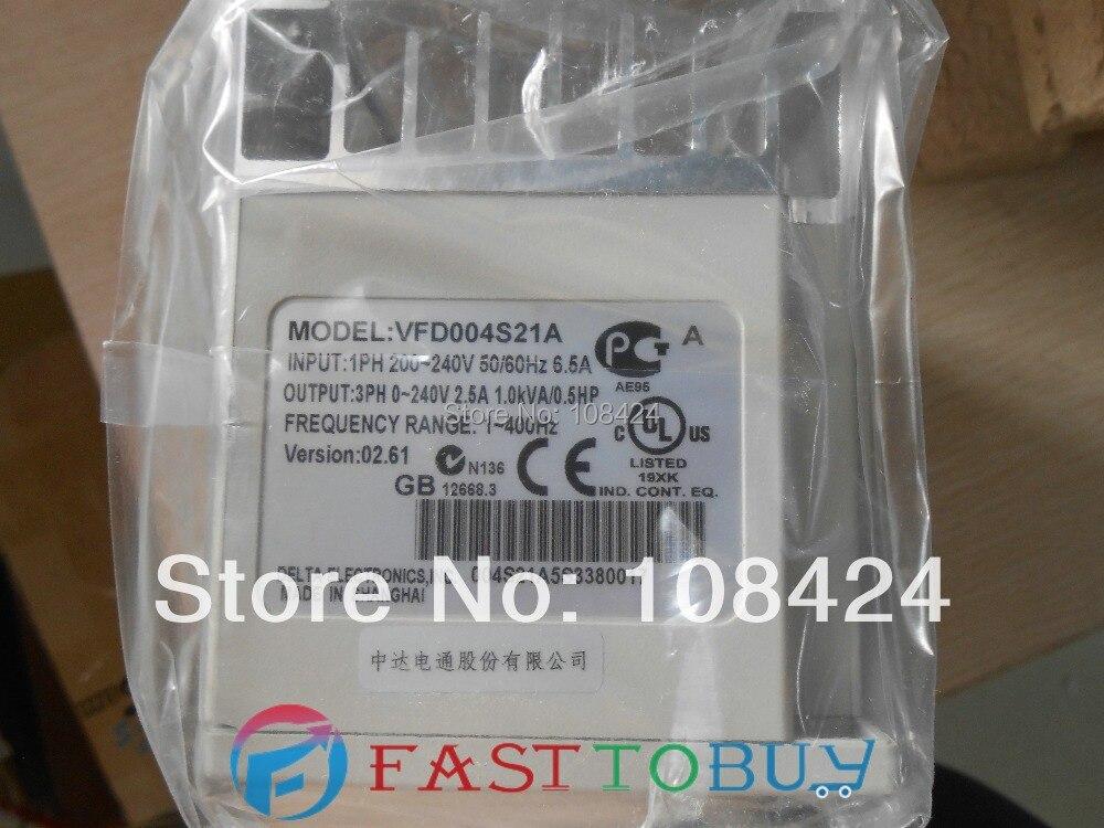 Delta Inverter VFD drive VFD004S21A 1 fase 220V 0.4kW 0.5HP 1 ~ 400Hz máquina de embalaje y telar