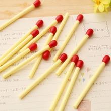 20PCS Kawaii Cartoon Plastic Ballpoint Pens Lovely Mini Matchstick Ball Pen Student Learning Writing stationery