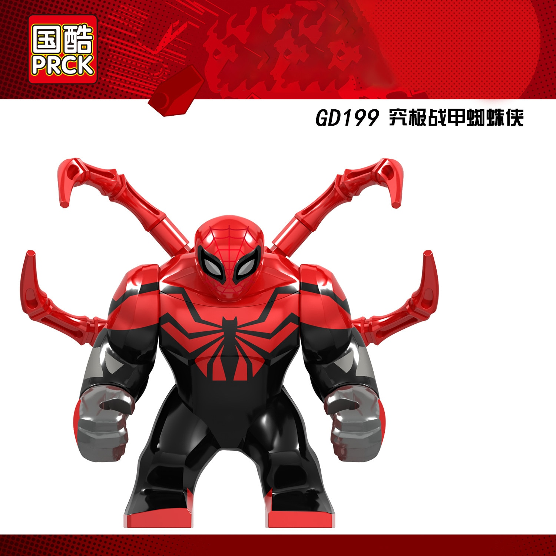 10pcs Big Figures Thanos with Tyrant Knife Iron Man Infinity Stones Gauntlet A Endgame Building Blcos Toys