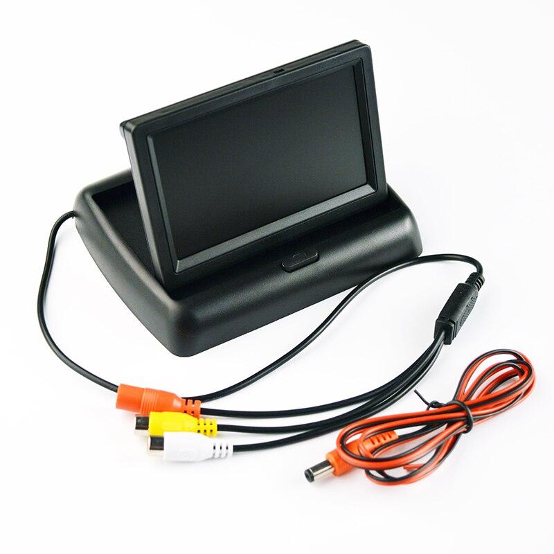 "Monitor de coche de 4,3 ""Hippcron, Monitor de TFT-LCD de Color plegable, retrovisor de coche, sistema de estacionamiento de 4,3 pulgadas para cámara de Vista trasera de coche"