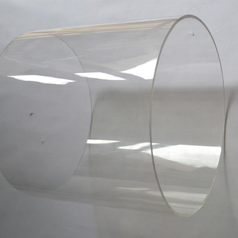 2 stücke OD150x3x1000mm Acryl Klar Rohr Hause Gebäude Dekor Hohe Transparente Kunststoff Led Rohr