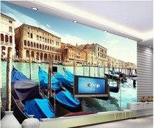 Papier peint photo 3d personnalisé venise   Photographie HD, ville flottante, salon, décor de maison, papier peint mural 3d pour murs 3 d