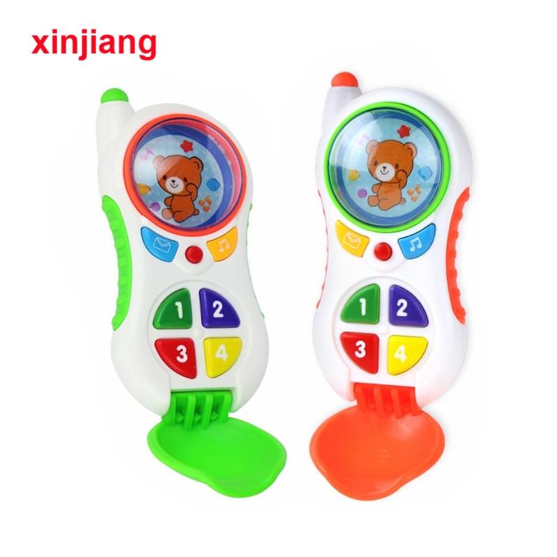 Детские игрушки для телефона 2 цвета имитация музыки светильник света игрушка