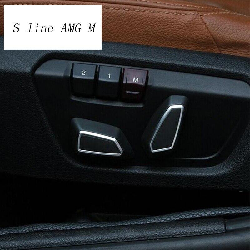Car Styling Auto Seat adjustment button switch trim Cover Sticker for BMW 1/3/4/5 Series F10 F20 F30 X3 X4 F25 F26 X5 X6 F15 F16