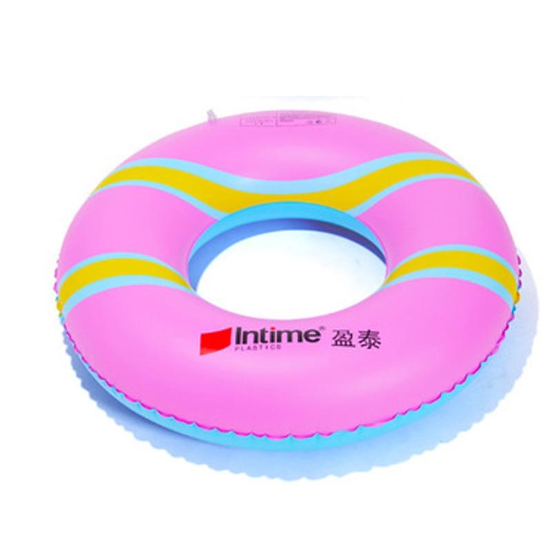 2016 gran oferta verano espeso PVC niños dona inflable impreso natación anillos Babys 4 colores Piscina tamaño 80*80cm