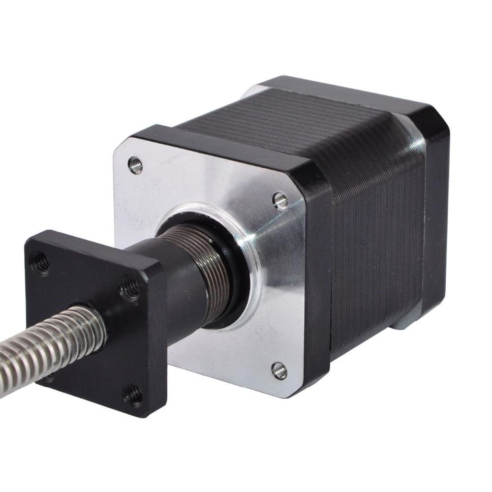 Motor paso a paso lineal externo Nema 17 de 330mm de longitud 1.68A 4 cables con tornillo de plomo Tr8x2 para impresora 3D