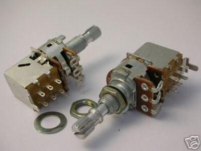 Push-Pull-Audio A10K A25K A50K A100K A250K A500K Schalter DPDT POTENTIOMETER