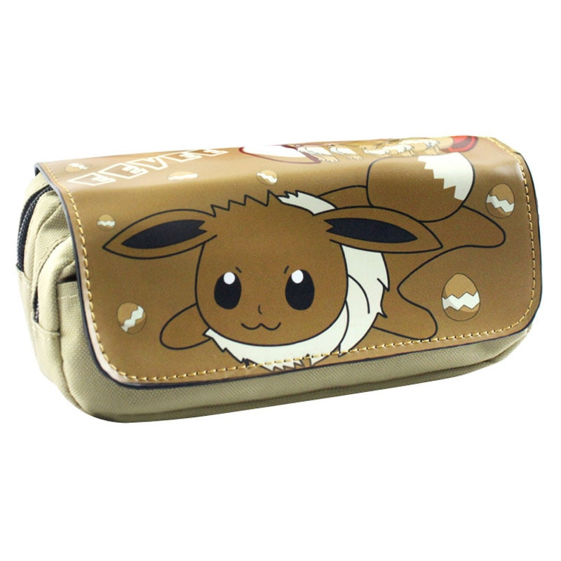 ¡Novedad! bolso de bolsillo con diseño de monstruo, de Pokemon Bolso de piel, estuche de lápices de dibujos animados para estudiantes, bolsas cosméticas para chicas