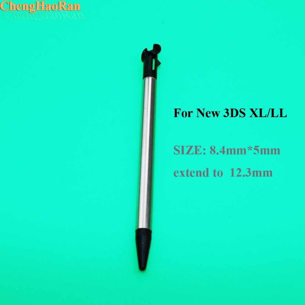 ChengHaoRan 1 pcs Metal Retrátil Caneta Stylus para o NOVO 3DS XL/LL preto