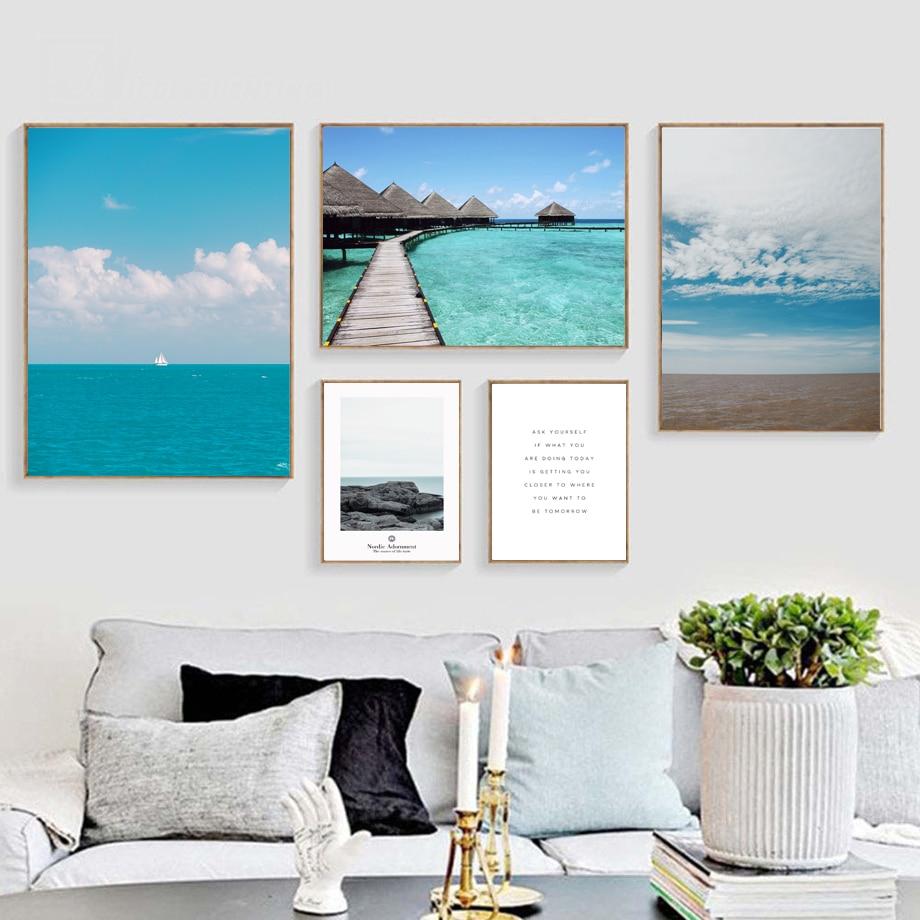 Cuadro sobre lienzo para pared carteles nórdicos e impresiones imágenes de pared para decoración para sala de estar