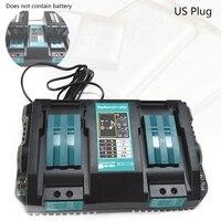 Double Li-ion Battery Charger For Makita 14.4V 18V BL1830 Bl1430 DC18RC DC18RA