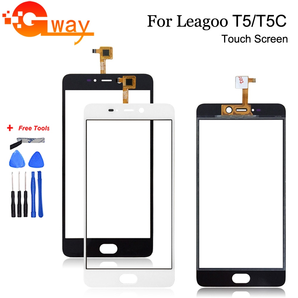 Touch Sensor Front Glass For Leagoo T5 Touch Screen Digitizer For Mobile Phone Leagoo T5C Touch Pane