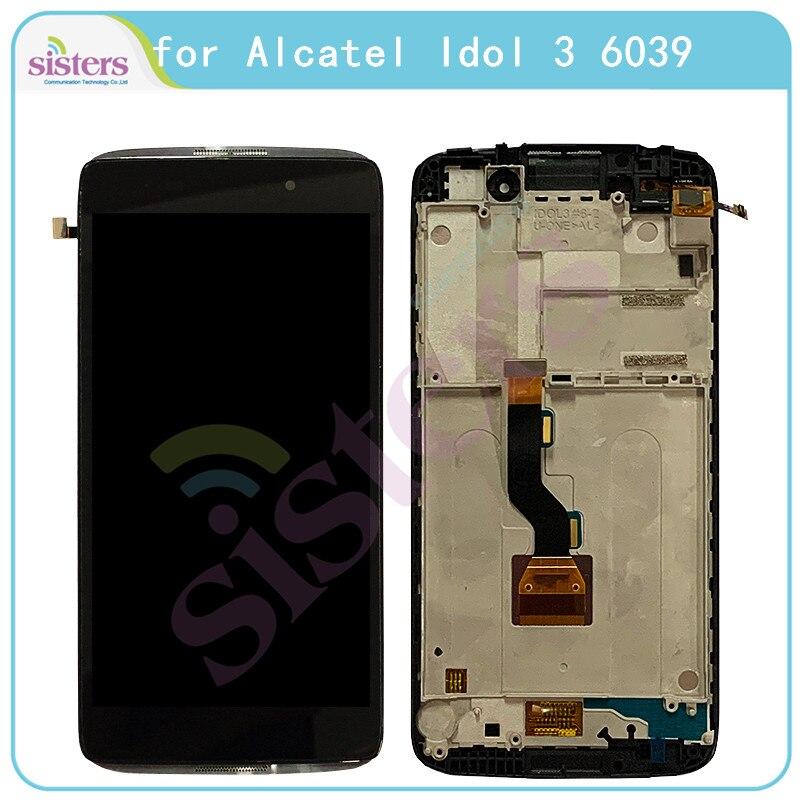 Pantalla LCD para Alcatel Idol 3 6039 6039A 6039K 6039Y pantalla LCD para Alcatel 6039 MONTAJE DE digitalizador con pantalla táctil de repuesto