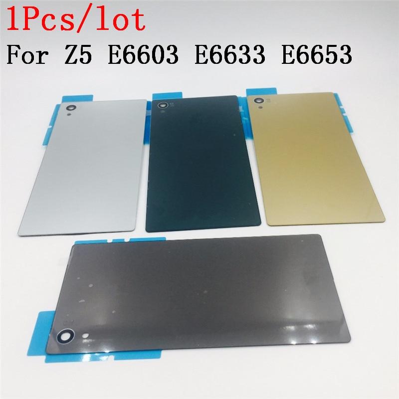 Для Sony Xperia Z5 E6603 E6633 E6653 задняя крышка для аккумулятора корпус с логотипом NFC с защитой экрана из закаленного стекла