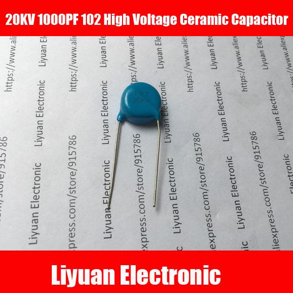 10 piezas 20KV 1000PF 102 de alta tensión condensador de cerámica 1nF 102 K 20KV