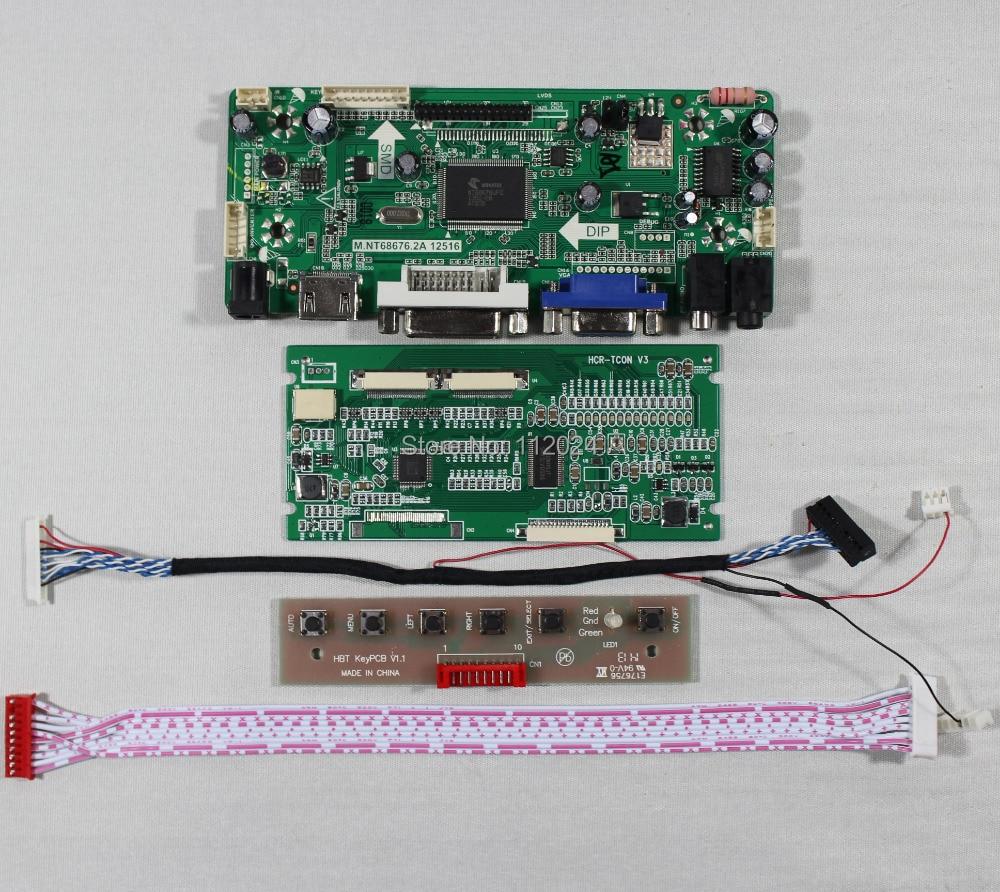 "HDMI VGA DVI de Audio lcd Placa de controlador M NT68676 para 7 ""TM070SDH01 800x600 LCD Panel"