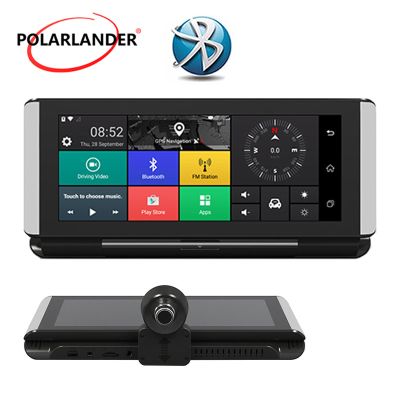Grabadora de conducción Bluetooth 6,86 pulgadas 16G externo portátil 3G/WIFI plataforma de control plegable Android