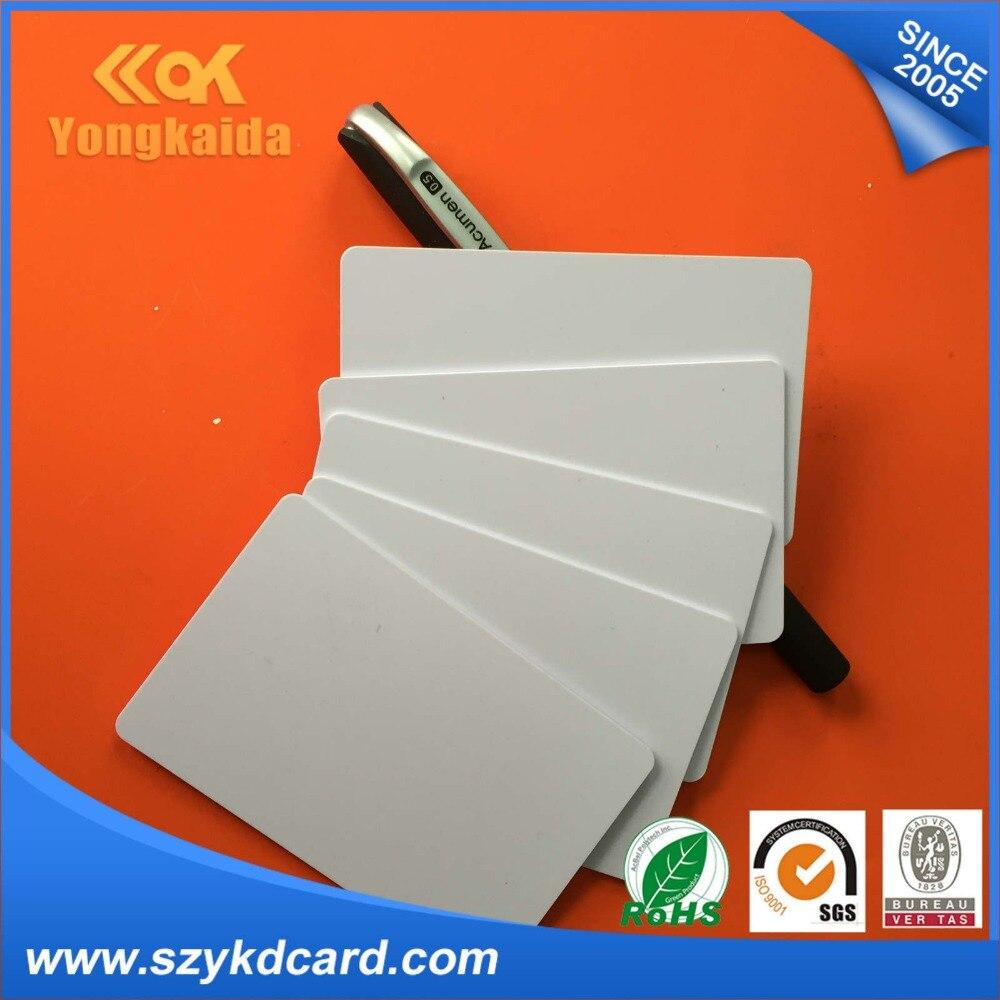 Yongkaida venta al por mayor 5000 unids/lote 125 kHz EM4100 4102 TK4100 inteligente rfid en blanco tarjeta