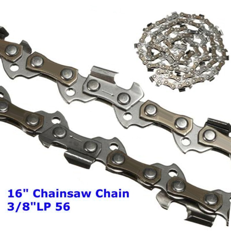 "16 pulgadas para sierra mecánica Craftsman, hoja de cadena de 3/8 ""LP .050, enlace de transmisión de calibre para Homelite 20 20AV 23 23AV"