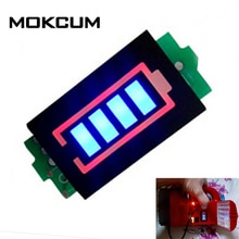 1S pojedynczy 3.7V wskaźnik pojemności baterii litowej moduł 4.2V niebieski wyświetlacz pojazd elektryczny akumulator samochodowy Tester mocy li-p Li-ion