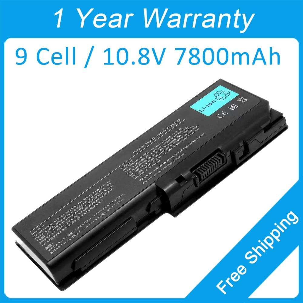 Nuevo 9 célula 7800 mah batería del ordenador portátil para toshiba satélite P300 P305 P205 P205D P305D PABAS101 PA3537U-1BRS PA3536U-1BAS