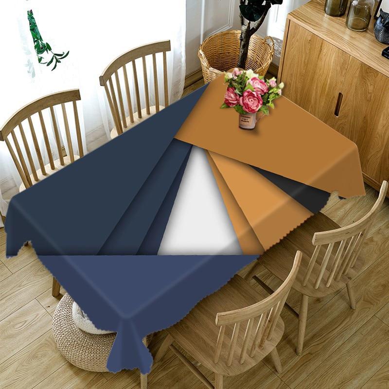 Mantel 3D personalizable 2018 para mantel para comedor, mantel rectangular, mantel de lino para mesa de té