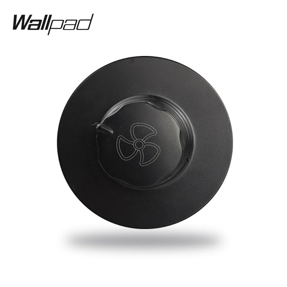 Wallpad L6 interruptor regulador de velocidad de ventilador Modular, regulador de brillo negro, blanco y dorado de 450W, Combinación libre para manualidades