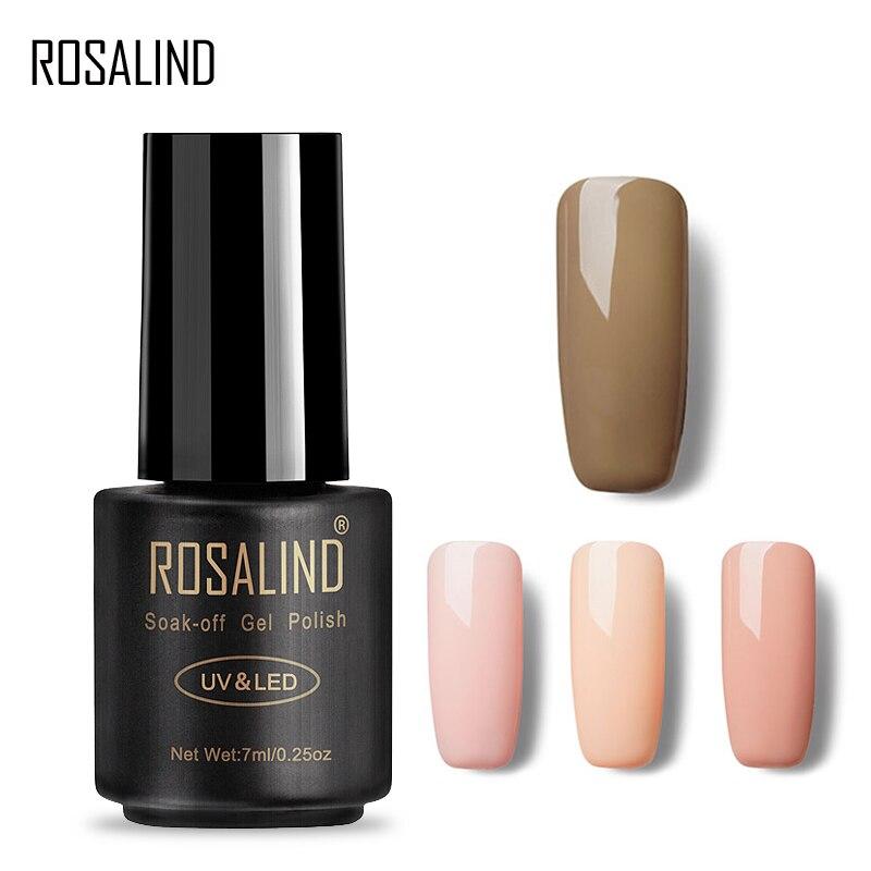 Гель-лак для ногтей ROSALIND, 1 S, 7 мл, телесного цвета, Полупостоянный УФ-Гель-лак для ногтей