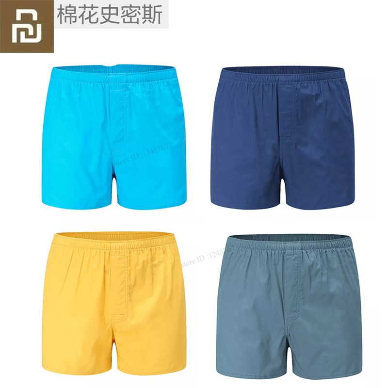 Youpin algodón Smith hombres ropa interior Boxers sueltos pantalones cortos bragas algodón suave pantalones grandes flecha ropa interior clásico Boxer básico