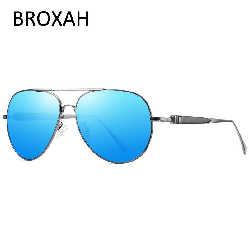 Fashion Pilot Polarized Sunglasse Men Brand Driving Sun Glasses for Metal Shades Male Eyewear