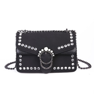 Vintage Suede Pearl Rivet Bag Fashion Casual Female Crossbody Shoulder Bags women soft pu leather Small Cover bag bolsa feminina