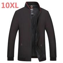 large size 8XL 7XL spring autumn New 2018 Jacket Men Fashion Casual Loose Mens Jacket Sportswear Bomber Mens jackets and Coat