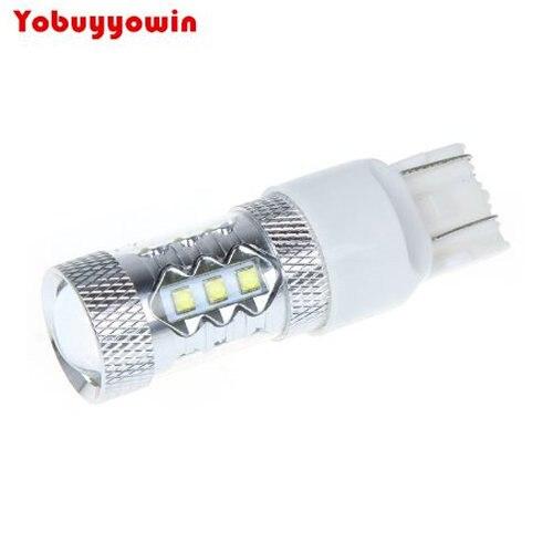 Les lumières blanches superbes de LED de puces du Cree T20 7443 80W remplacent les lampes inversées blanches de clignotant de puissance élevée du blanc 360 K de 6000 degrés