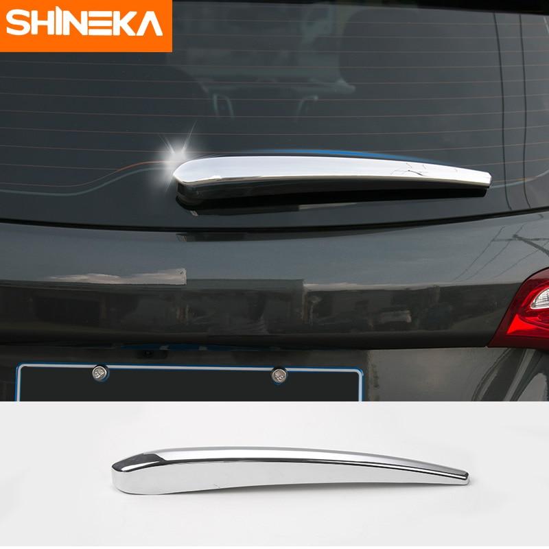Accesorios SHINEKA para coche, escobilla limpiaparabrisas para lluvia trasera, cubierta decorativa para Chevrolet Equinox 2017