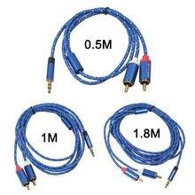 REXLIS câble RCA 3.5mm mâle à 2RCA câble Audio stéréo Y séparateur câble AUX pour tablette PC
