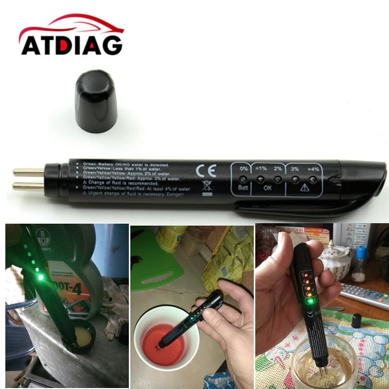 1 pçs freio fluido testador carro ferramenta de diagnóstico automático mini caneta verificação veículo qualidade digital freio fluido ferramenta